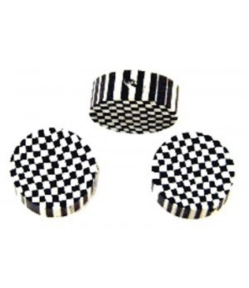 12mm Checkered Round Fimo