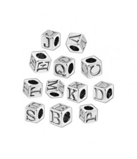 Sterling Silver Letter Beads