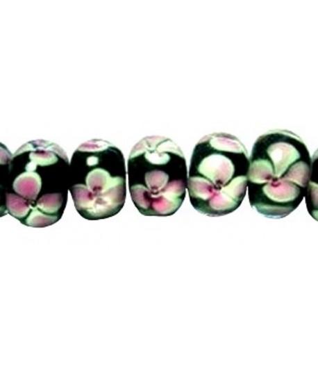 Black w/ Pink Flowers