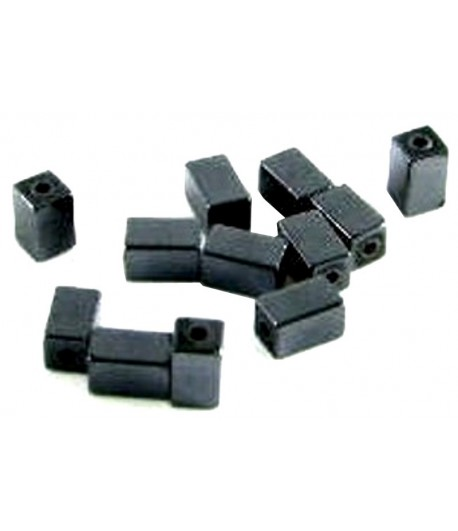 5x3mm Hematite Blocks -...