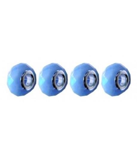 14x10x5mm Hole Milky Blue...