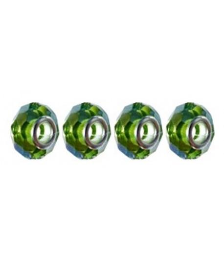 14x10x5mm Hole Green Glass...