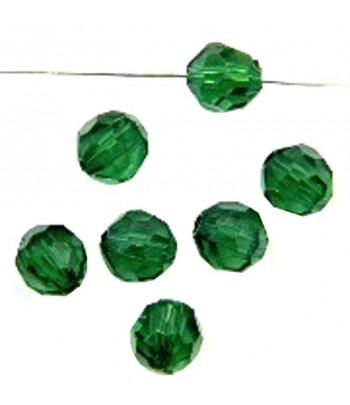 8mm Emerald Acrylic Faceted...