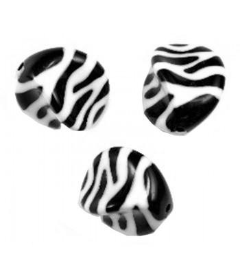 23x18mm Black White Zebra...