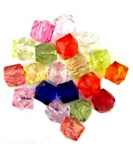 12mm Acrylics  Faceted Cube...