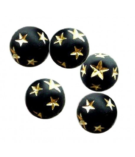 8mm Matte Round with Gold...