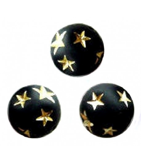 10mm Matte Round with Gold...