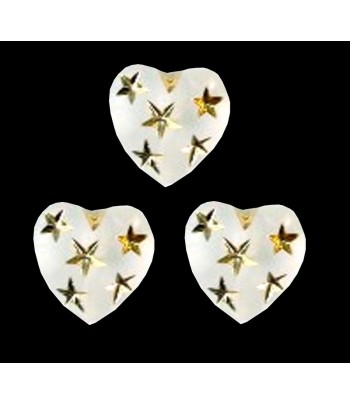 12mm Matte Heart with Gold...