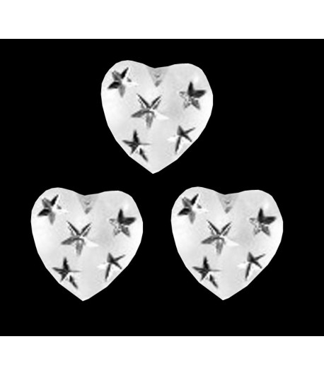 12mm Matte Heart with...