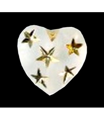 14mm Matte Heart with Gold...
