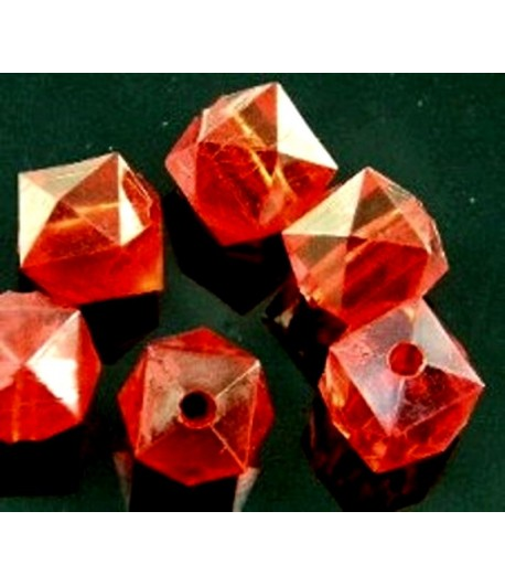 12mm Red Acrylic Faceted...
