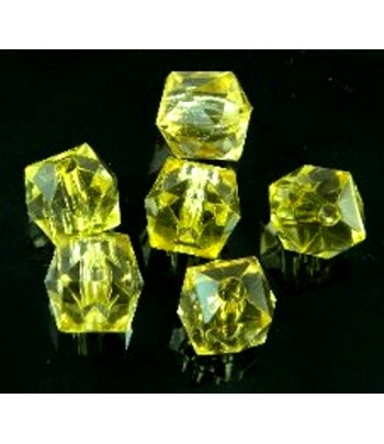 12mm Yellow Acrylic Faceted...