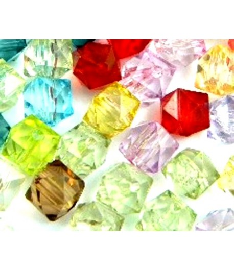 12mm Faceted Acrylic Square...