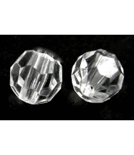 8mm Crystal Acrylic Faceted...