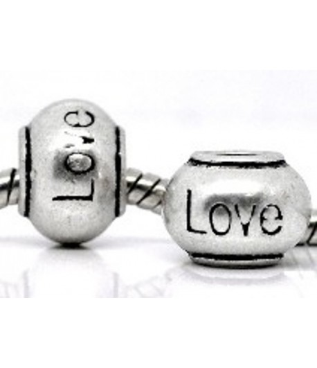 "11x8mm w/5mm Hole ""Love""..."