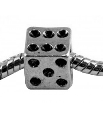 9mm Metal Dice Beads w/...