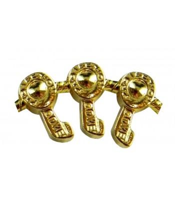 Gold Tone Metal Beads w/5mm...
