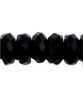 8x4mm Black Faceted...