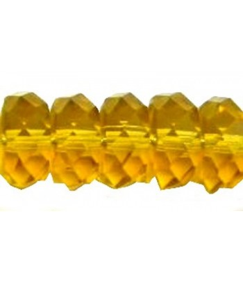 8x4mm Gold Faceted Rondelle...