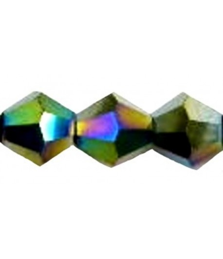 4mm or 6mm Jet Faceted...