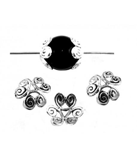 Metal Swirl Bead Caps -...
