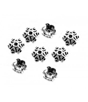 8mm  Metal Bead Caps -...