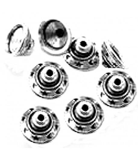 Metalized Bead Caps -...