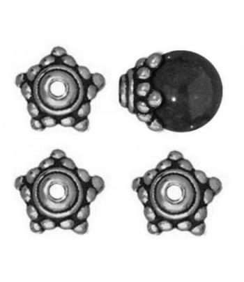 9mm  Metal Bead Caps -...
