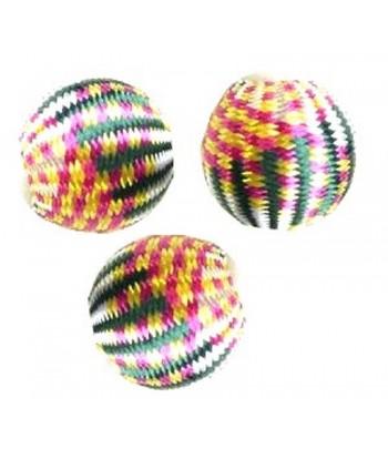 20mm Silk Beads - B - Qty 5