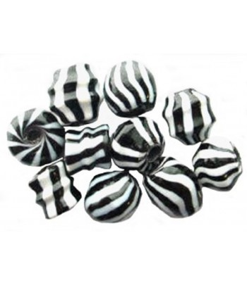 8x8mm Chunky Zebra Glass...