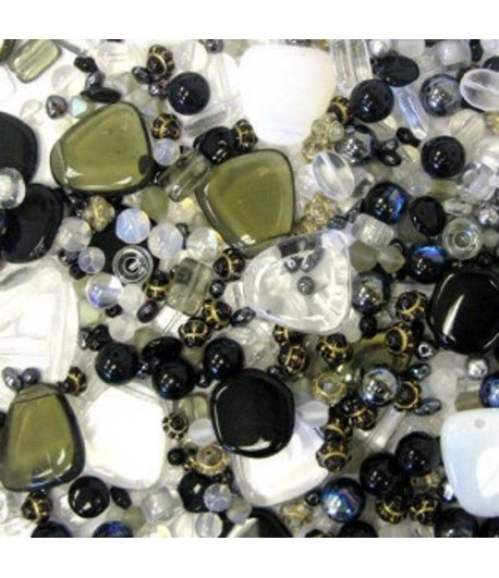 Black White and Clear Bead...