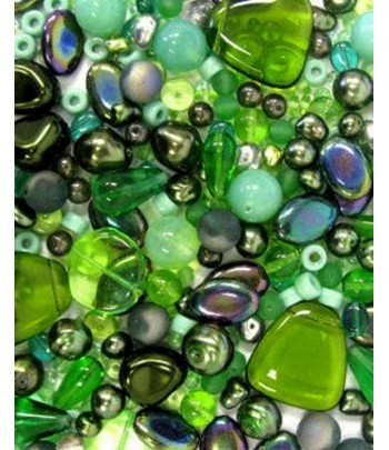 Green Bead Mix - G26 -...