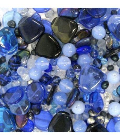 Blue-Turquoise Bead Mix -...