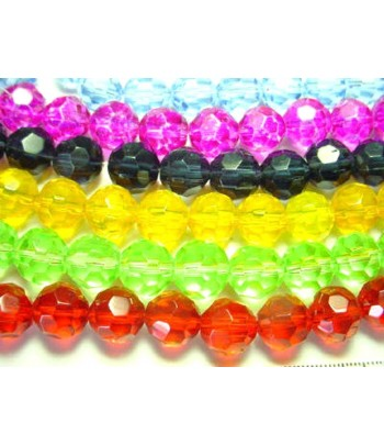 12mm Round Faceted Crystals...