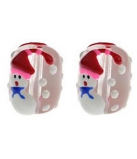 18x15mm Snowman Beads -...