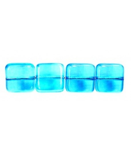 9mm Flat Glass Square Beads...