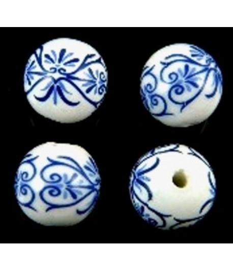 12mm Blue Designed Round...