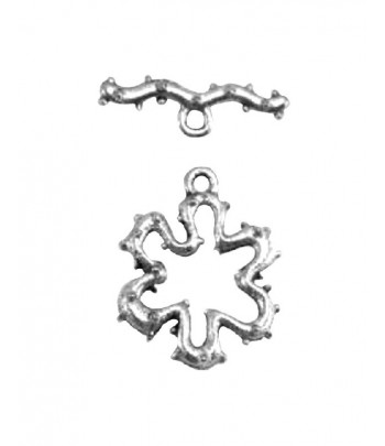 9mm ID  Flower Toggle Clasp...