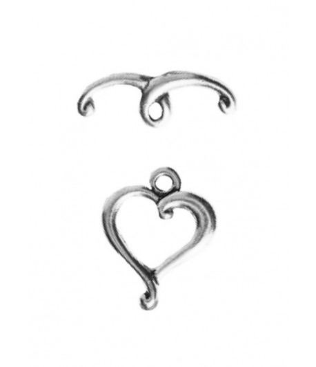 10mm   Heart Toggle Clasp -...