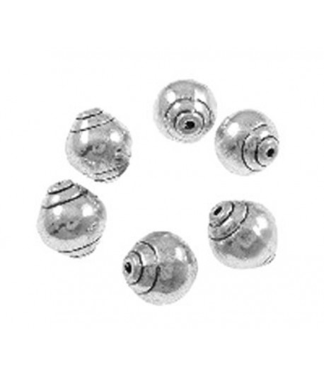 9mm Metal Stubby Oval Beads...
