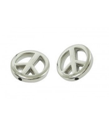 20mm Metalized Peace Sign...