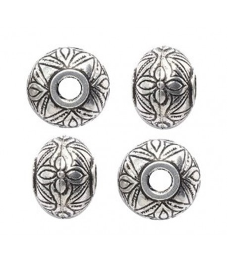 15x12mm Round Patterned...