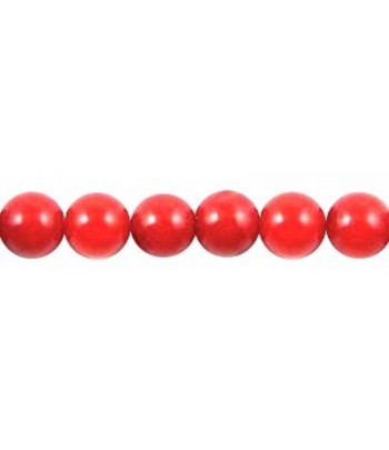 4mm Coral Round Beads -...