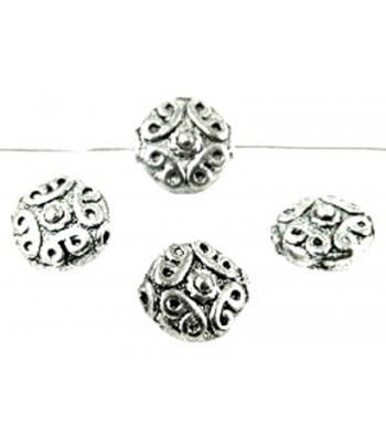10x5mm Metal Disc Beads -...