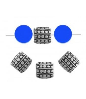 7mm  Metalized Barrel Beads...