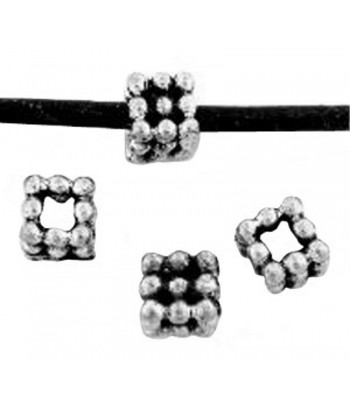 6mm w/2.5mm Hole  Pewter...