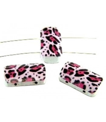 Animal Print 2 Hole Wood...