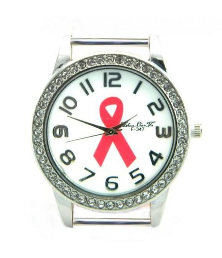 PRW-1 Pink Ribbon Watch with Rhinestones