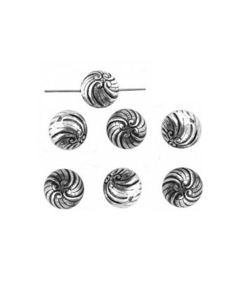 Metalized Swirl Beads 10mm...